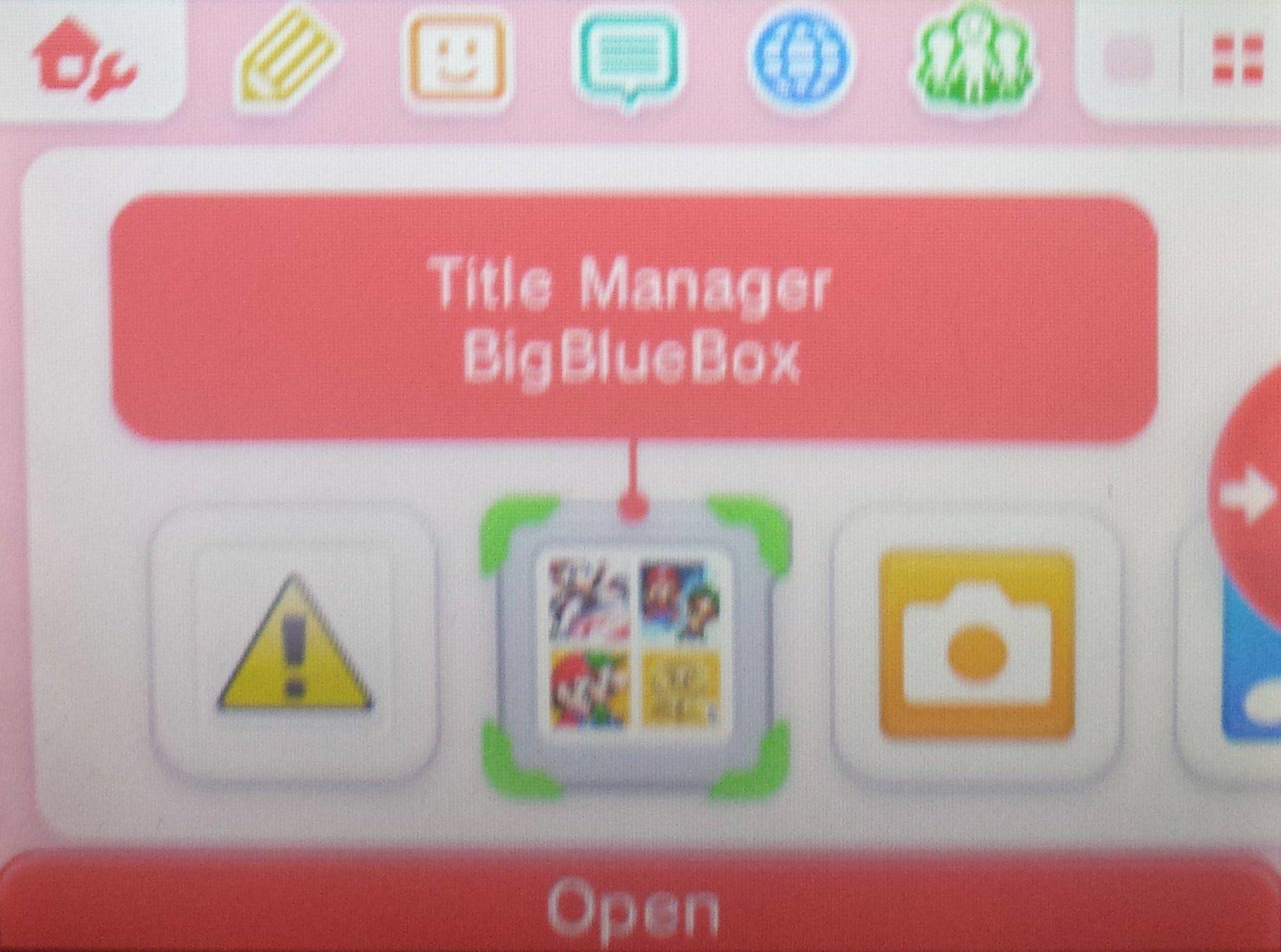 BigBlueMenu - BigBlueBox - Nintendo 3DS - Dekazeta
