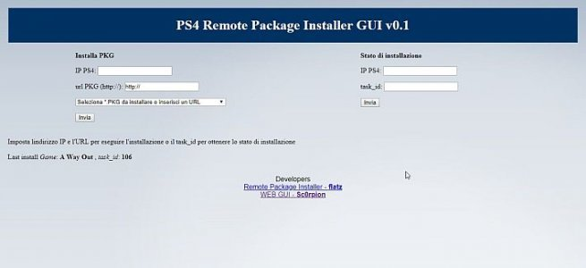 PS4 Remote Package Installer WEB GUI - PS4 - Dekazeta