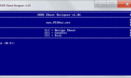 ODDE Eboot Resigner - PS3 - Dekazeta