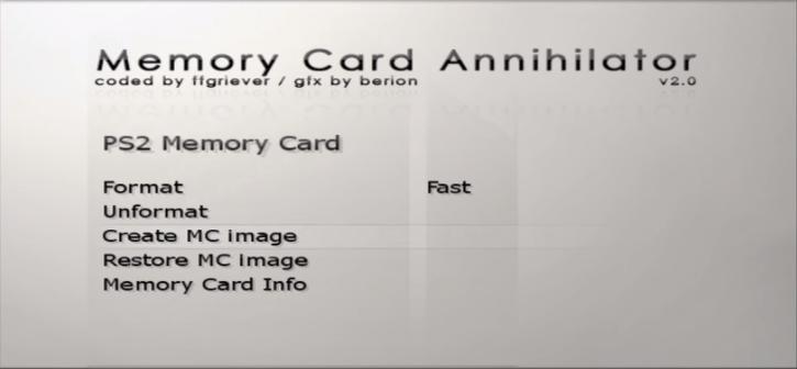 Memory Card Annihilator - PS2 - Dekazeta