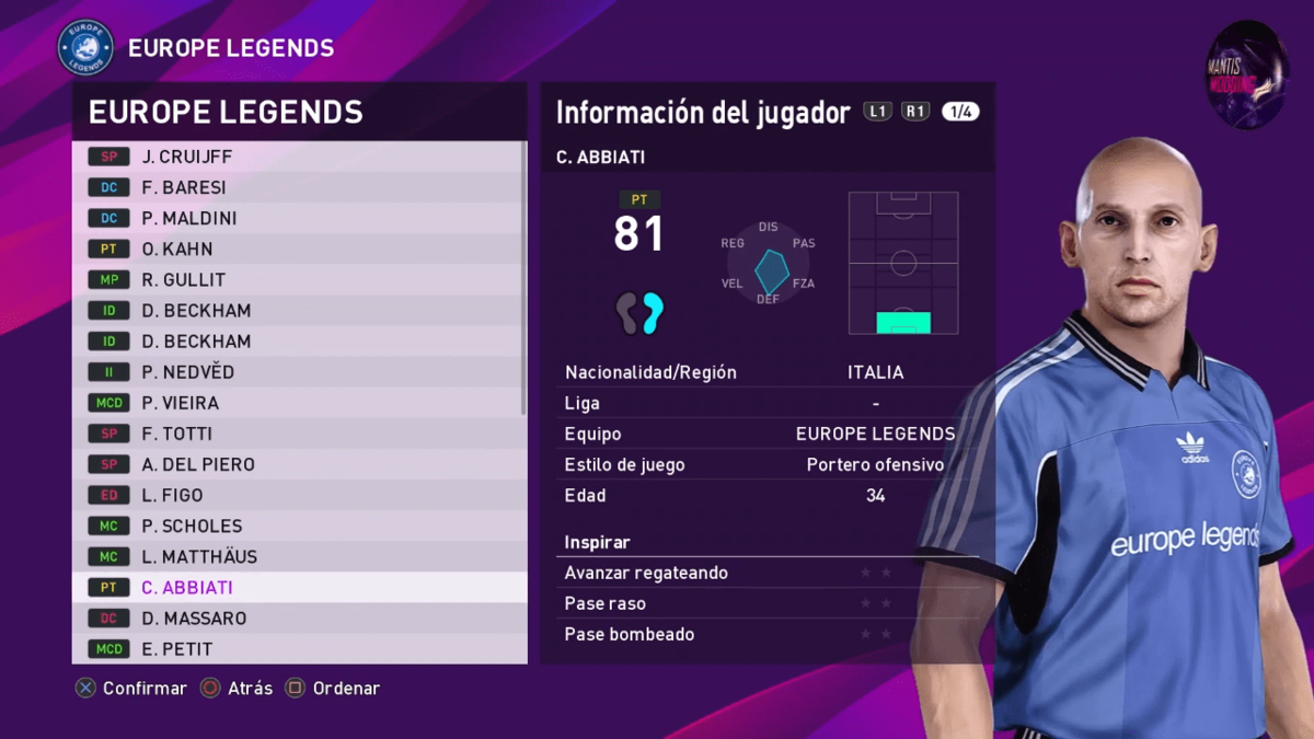 MyClub Legends Offline Mode eFootball PES 2020 PS4_PC V1 __ By Junior Mantis __ MantisModding 2-30 screenshot.png