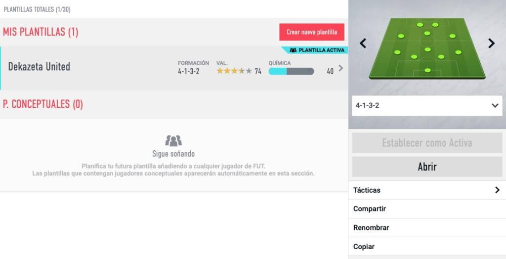 web app FIFA 20