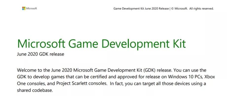 Project Scarlett - Devkit junio 2020