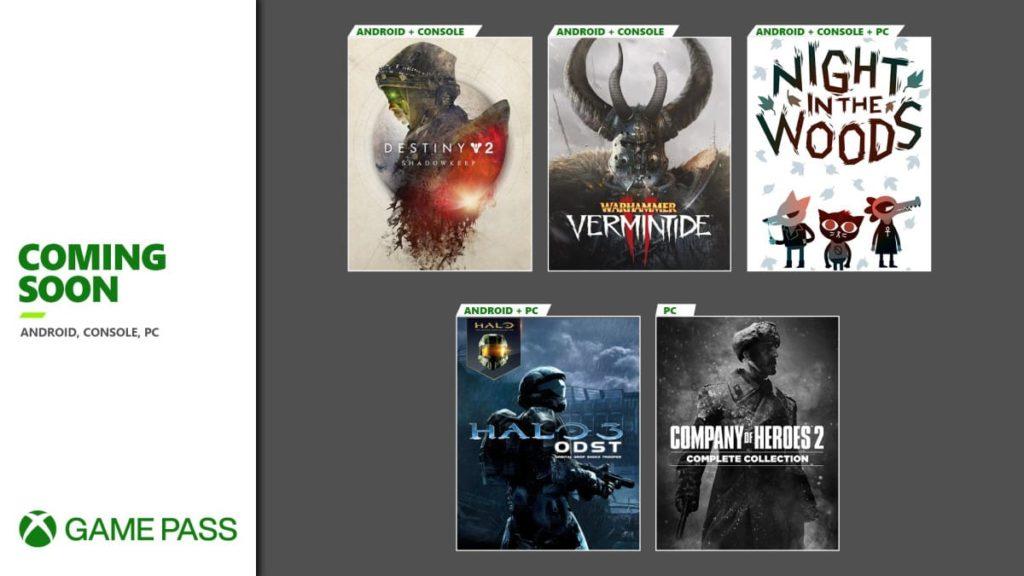 Xbox Game Pass Septiembre 02