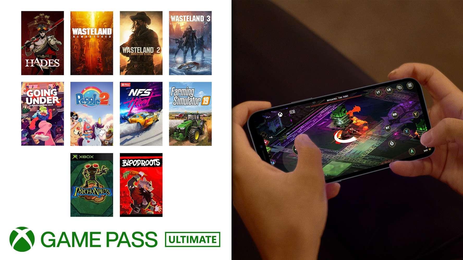 Xbox Game Pass -Controles táctiles agosto 2021
