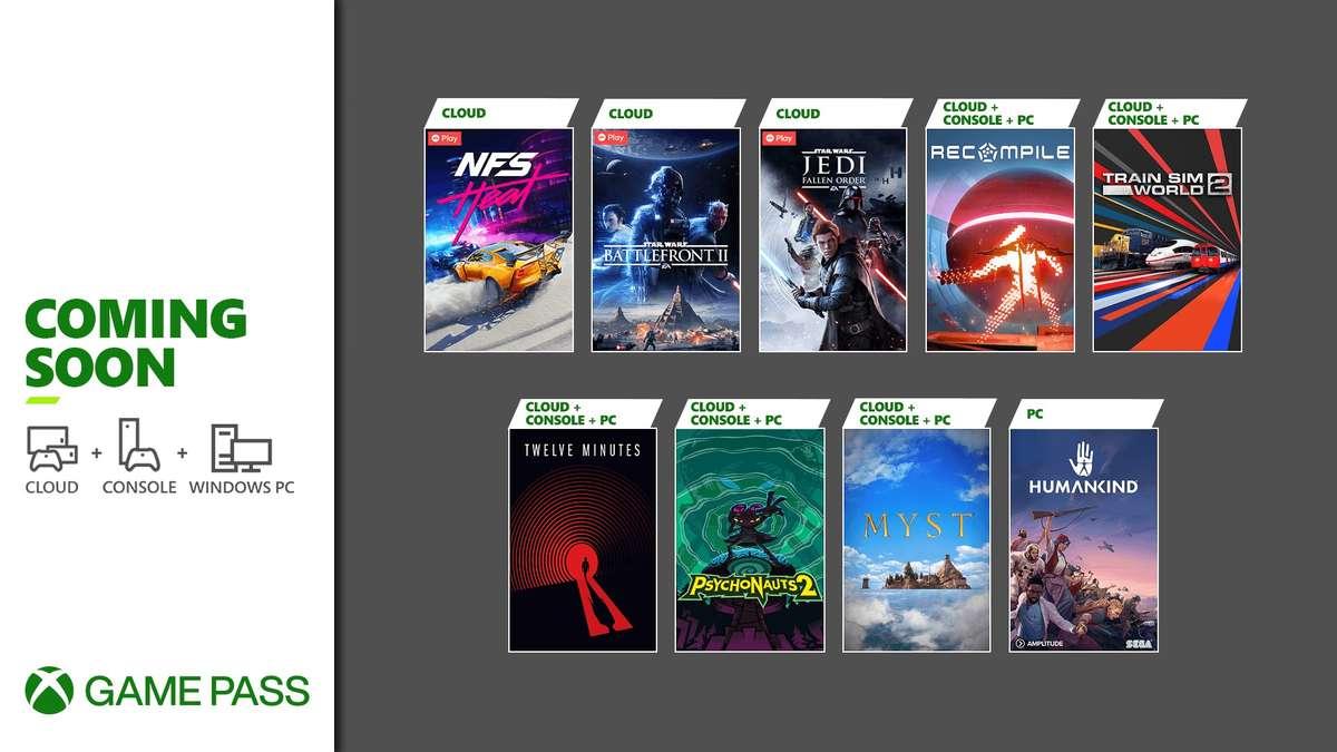 Xbox Game Pass - agosto 2021