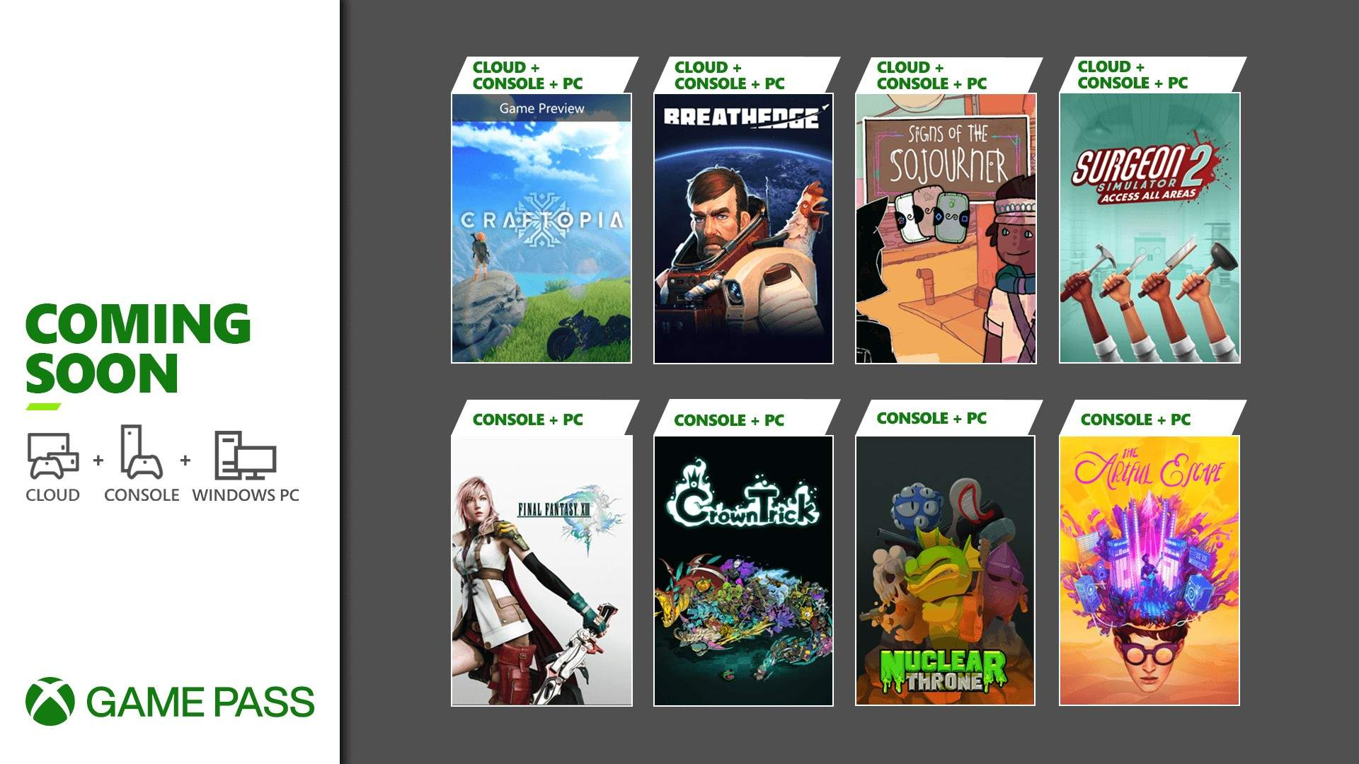 Xbox Game Pass - septiembre 2021