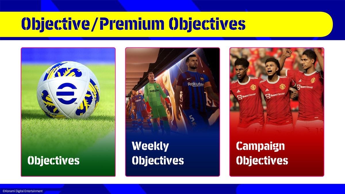 Objetivos eFootball 2022