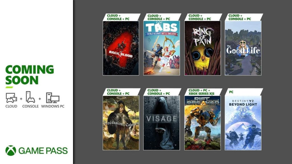 Xbox Game Pass - Octubre 2021